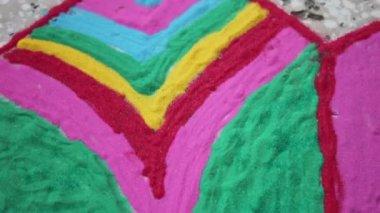 Rangoli colors festival, indian culture concpets — Stock Video
