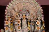 Statue of goddess durga, decorated during navratri pooja — Stock Photo