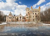 Destroyed Medieval Russia Manor — Foto Stock