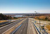 Road landscape in autumn — Zdjęcie stockowe