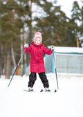 Child engaged in skiing to  winter — Stockfoto