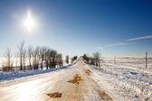 Zasněžené silnice — Stock fotografie