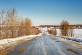 Snow-covered road — Stock Photo