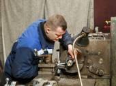 Turner works for lathe — Stock Photo