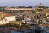 North side of Douro and Maria Pia bridge of Porto — Stock Photo