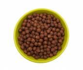 Chocolate cereal balls — Stock Photo