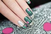 French green manicure. — Stock Photo