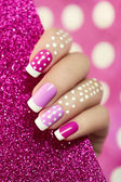 On pink dot. — Stock Photo