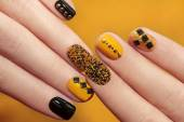 Caviar manicure. — Stock Photo
