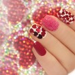 Manicure with hearts. — Stock Photo #62419737