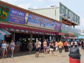 Boardwalk at Seaside Heights at Jersey Shore in New Jersey — Stockfoto