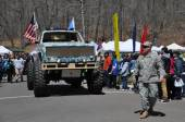 Parade at the 37th Annual Daffodil Festival in Meriden, Connecticut — Stock Photo