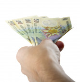 Hand giving money — Stock Photo