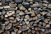 Pile of firewoods — Stock Photo