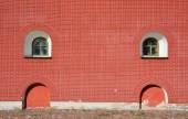 Windows at the brick wall — Stock Photo
