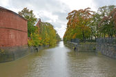 Kronstadt canal — Stock Photo
