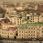 Panorama of old city Vyborg — Stock Photo #68418141