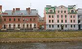 Golden Embankment -residential area in historical place in Pskov — Stockfoto