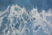 Ice pattern closeup — Stock Photo