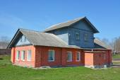 Ancient building at Staraya Ladoga — Stok fotoğraf