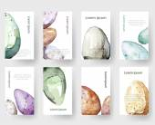 Watercolor Easter holiday cards, tags, banners set. Vector — Διανυσματικό Αρχείο