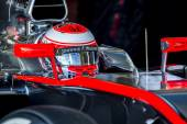 Jenson Button Jerez 2015 — Stock Photo