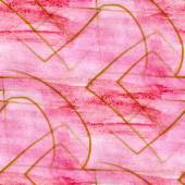 Seamless pattern watercolor pink texture background wallpaper ha — Stock Photo