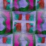Vintage pattern design dark blue, green seamless watercolor — Stock Photo #57125857