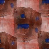Artist seamless  brown, dark blue cubism abstwatercolor wallpape — Stockfoto