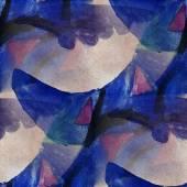 Artist seamless  dark blue, black cubism abstwatercolor wallpape — Stock Photo