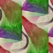 Vintage pattern   design green, dark blue seamless watercolor te — Foto de Stock