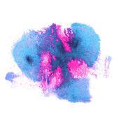 Art watercolor ink paint blue, pink blob watercolour splash colo — Stock Photo