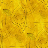 Cubism abstract  the yellow art texture watercolor wallpaper ar — Stock Photo