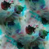 Contemporary blue, black avant-garde seamless wallpaper hand-dra — Stock Photo