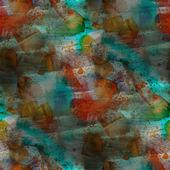 Contemporary carrot, blue avant-garde seamless wallpaper hand-dr — Stock Photo