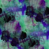 Contemporary green, black  avant-garde seamless wallpaper hand-d — Stock Photo