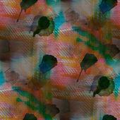 Contemporary green, carrot, black avant-garde seamless wallpaper — Stock Photo