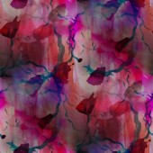 Contemporary red, pink avant-garde seamless wallpaper hand-drawi — Stock Photo