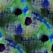 Contemporary yellow, blue avant-garde seamless wallpaper hand-dr — Stock Photo