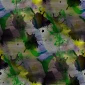 Contemporary yellow, green avant-garde seamless wallpaper hand-d — Stock Photo