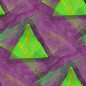 艺术无缝的紫色、 绿色当代纹理水彩 unusu — 图库照片