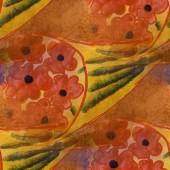 Creation brown, yellow contemporary avant-garde art background s — Stock Photo