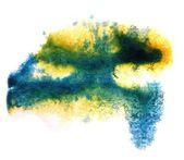 Modern art avant-guard texture background blue, yellow wallpaper — Stock Photo