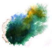 Modern art avant-guard texture background green, blue, yellow wa — Stock Photo