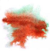 Modern art avant-guard texture background green, red wallpaper v — Stock Photo
