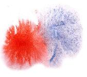 Modern art avant-guard texture background red, blue wallpaper vi — Stock Photo