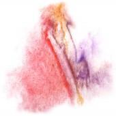 Modern art avant-guard texture red, violet, orange background wa — Stock Photo