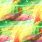 Art light saucer, aliens, ufo background texture watercolor seam — Stock Photo #60521197