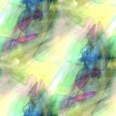 Art light blue, cartoon, creaturet background texture watercolor — Stock Photo