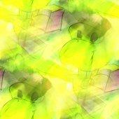 Art light green, man, alien background texture watercolor seamle — Stok fotoğraf